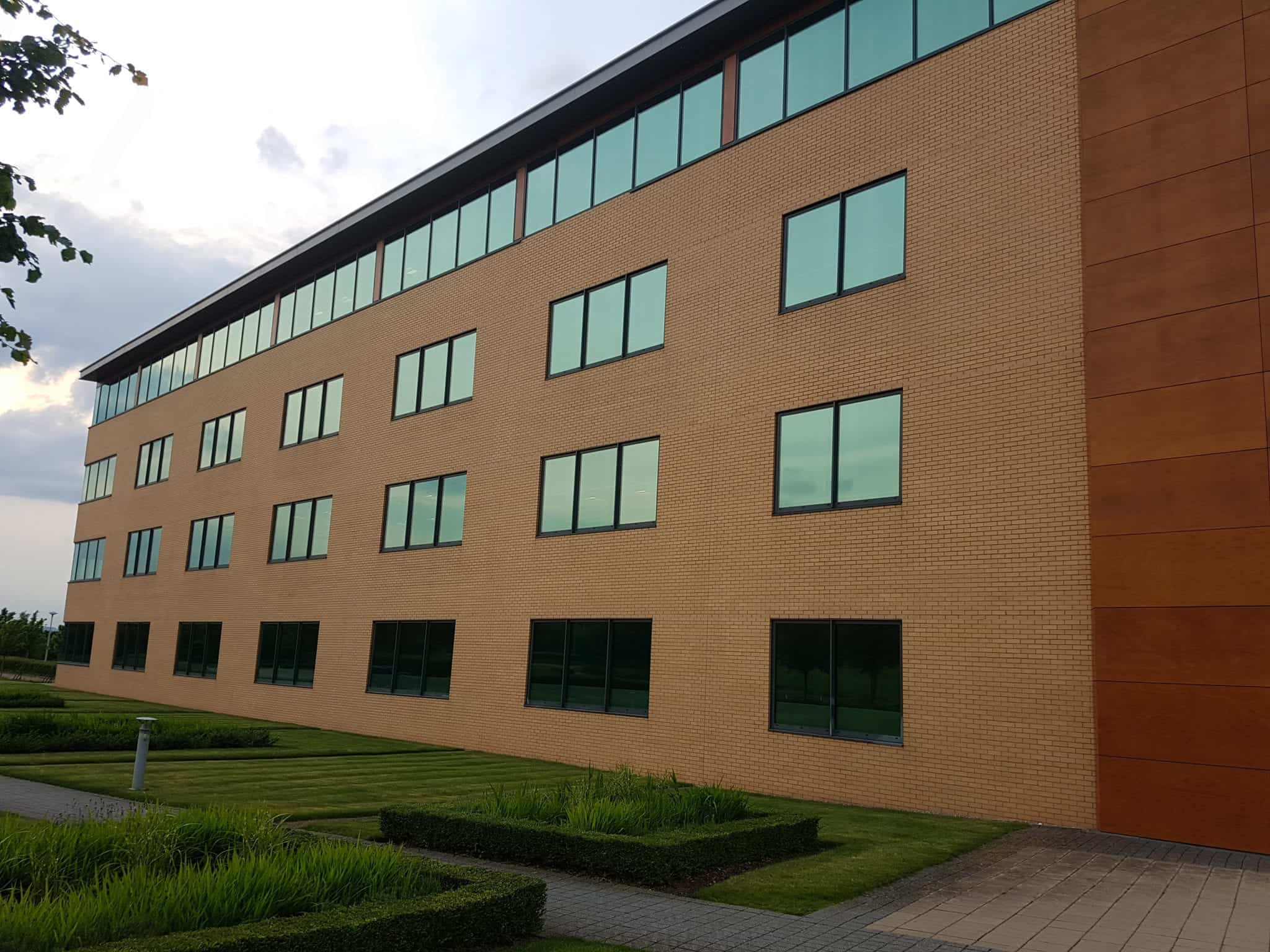 Solar Reflective Window Film applied to Offices
